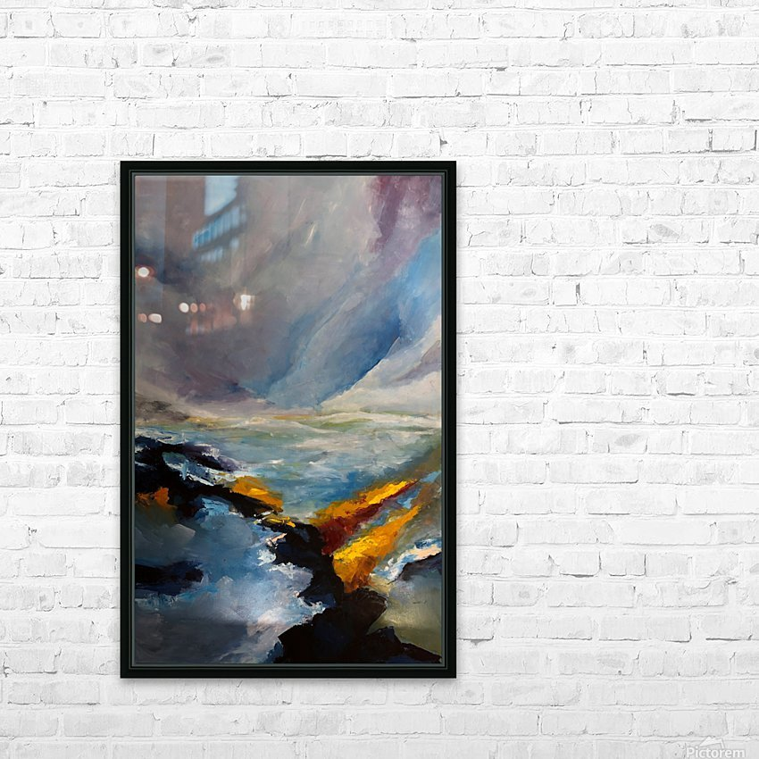 Sunlight on Waves_final HD Sublimation Metal print with Decorating Float Frame (BOX)