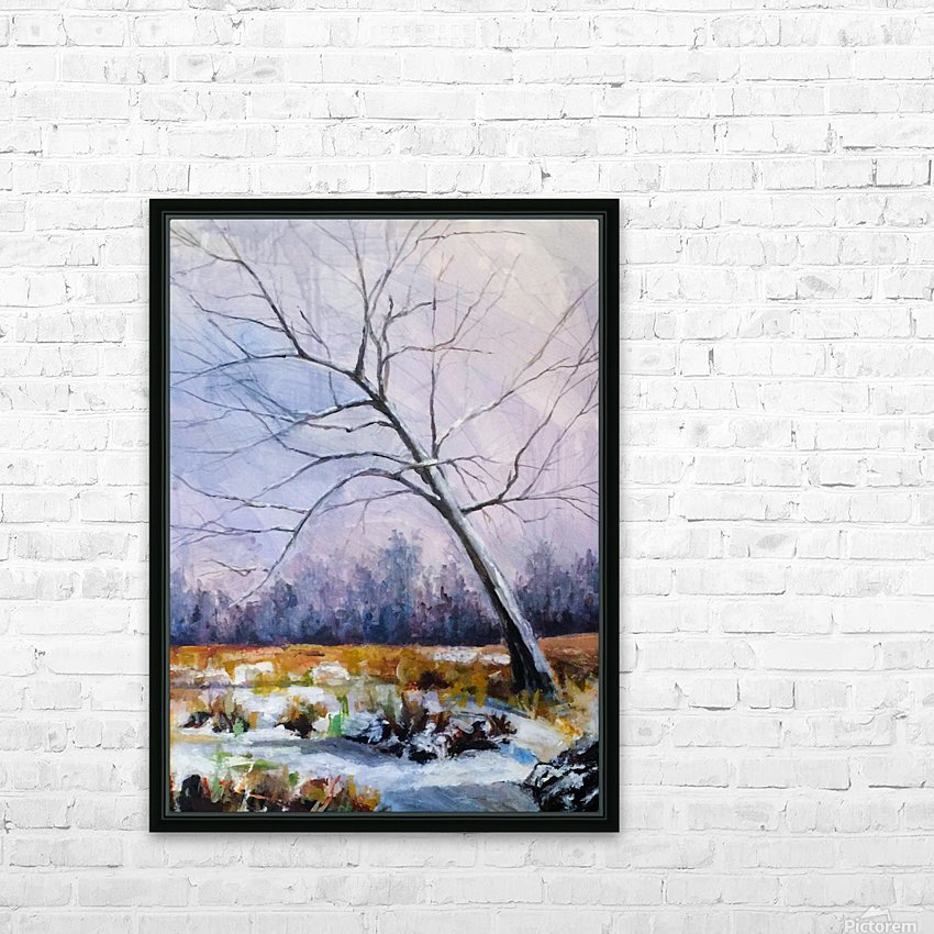 Walnut Tree HD Sublimation Metal print with Decorating Float Frame (BOX)
