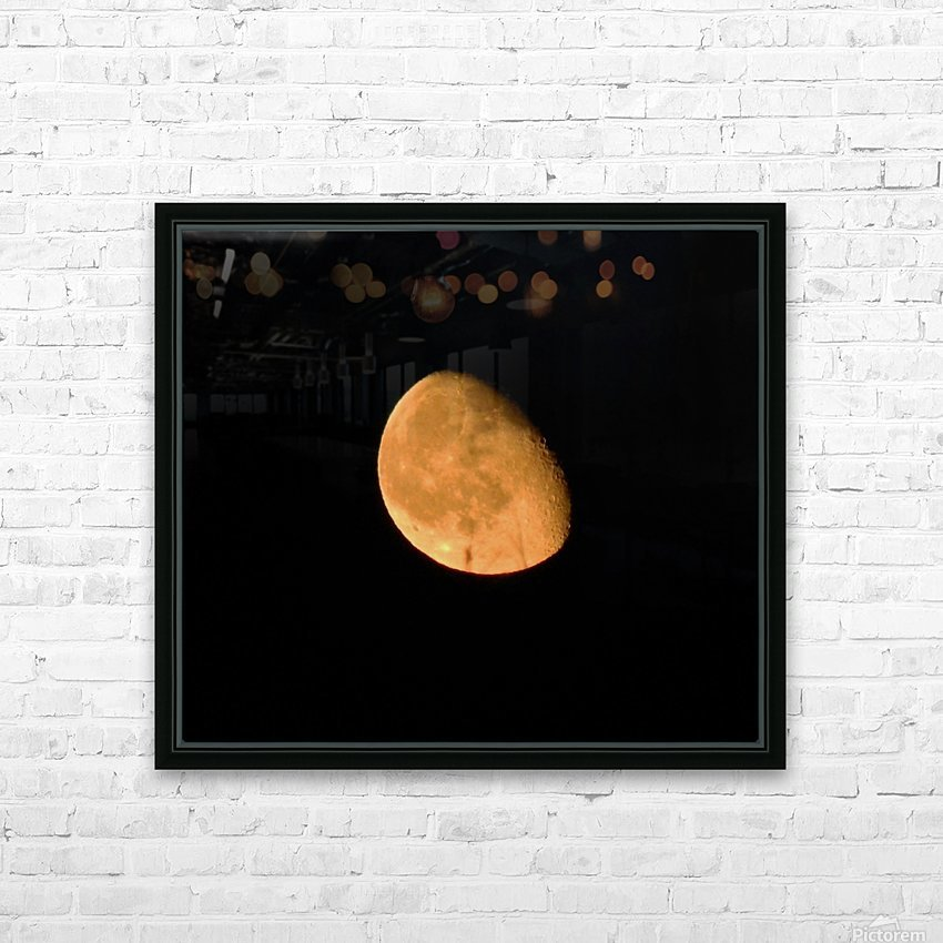 Moon - 4.27 HD Sublimation Metal print with Decorating Float Frame (BOX)