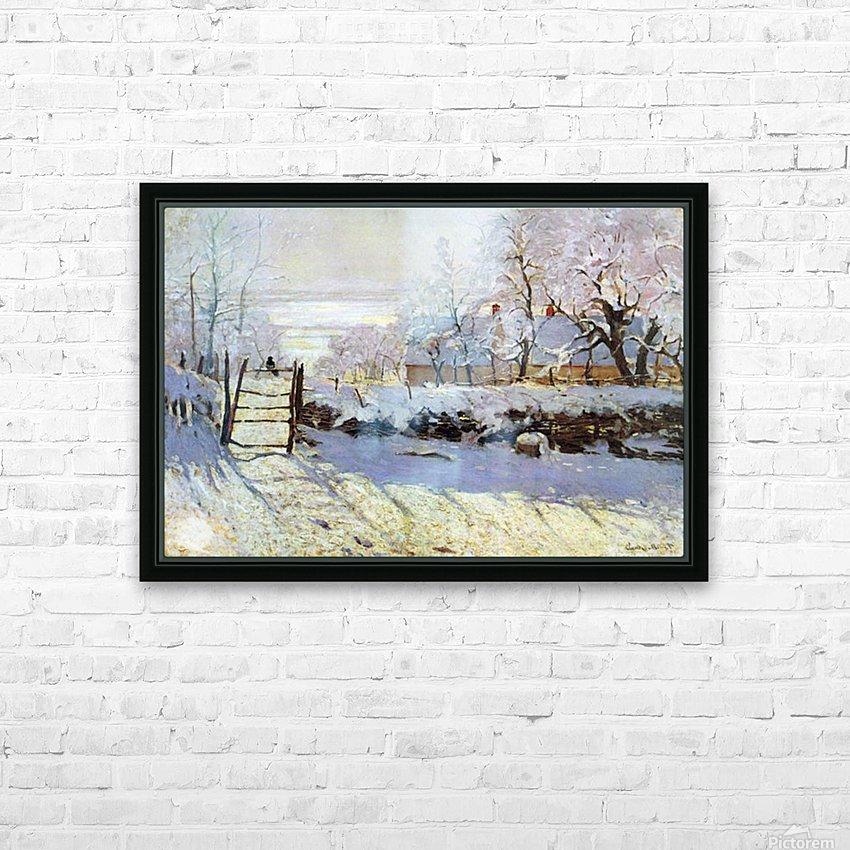 The Magpie by Monet HD Sublimation Metal print with Decorating Float Frame (BOX)