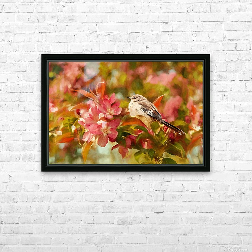 Sparrow In The Apple Tree HD Sublimation Metal print with Decorating Float Frame (BOX)
