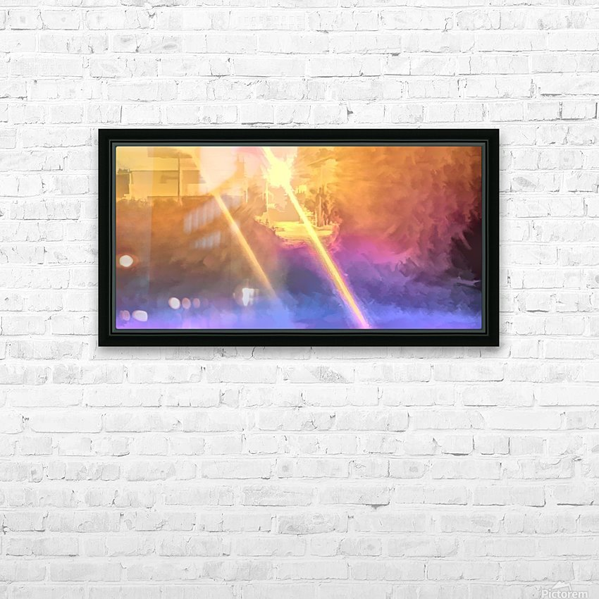 City Park at night 3 HD Sublimation Metal print with Decorating Float Frame (BOX)