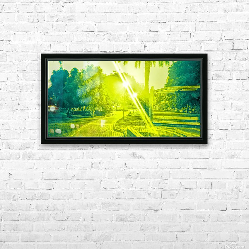 City Park at night 7 HD Sublimation Metal print with Decorating Float Frame (BOX)