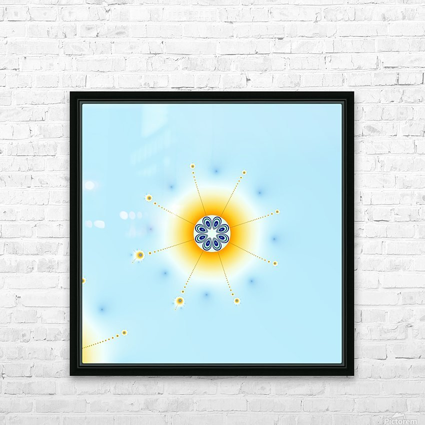 Snow flake fractal HD Sublimation Metal print with Decorating Float Frame (BOX)