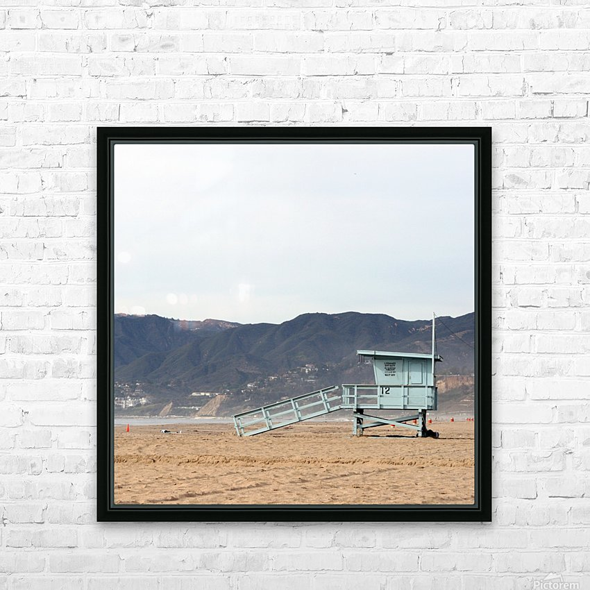 Lonely Lifeguard Tower at Beach HD Sublimation Metal print with Decorating Float Frame (BOX)