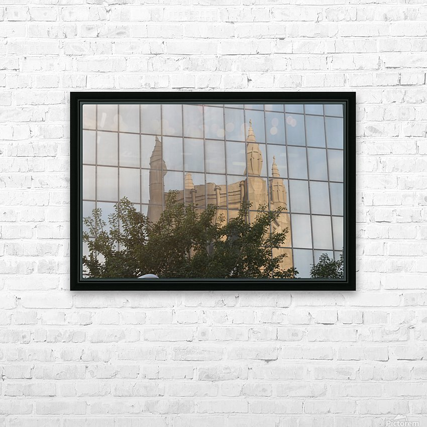 Reflection of Church Building HD Sublimation Metal print with Decorating Float Frame (BOX)