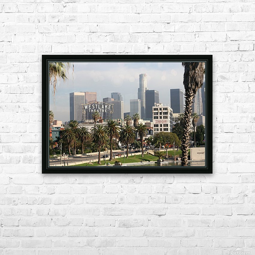 Westlake Theater to Los Angeles HD Sublimation Metal print with Decorating Float Frame (BOX)