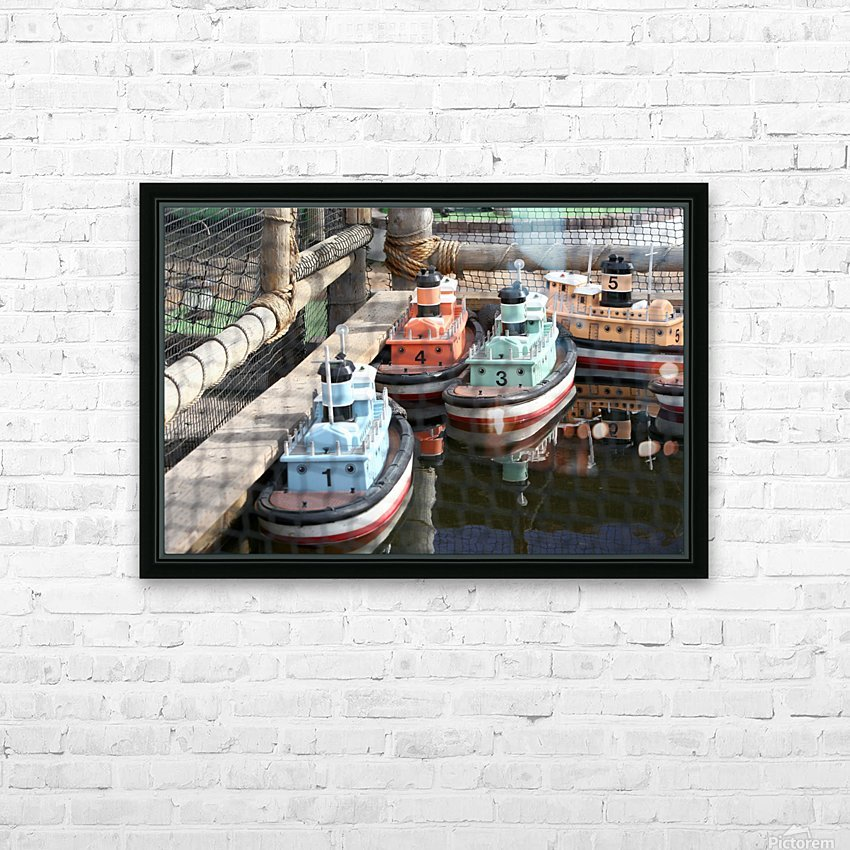 3 Toy Boats HD Sublimation Metal print with Decorating Float Frame (BOX)