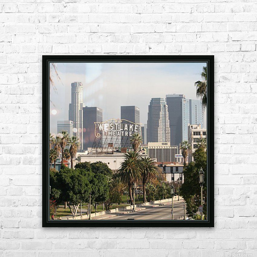 Westlake Theater to Los Angeles - Square HD Sublimation Metal print with Decorating Float Frame (BOX)