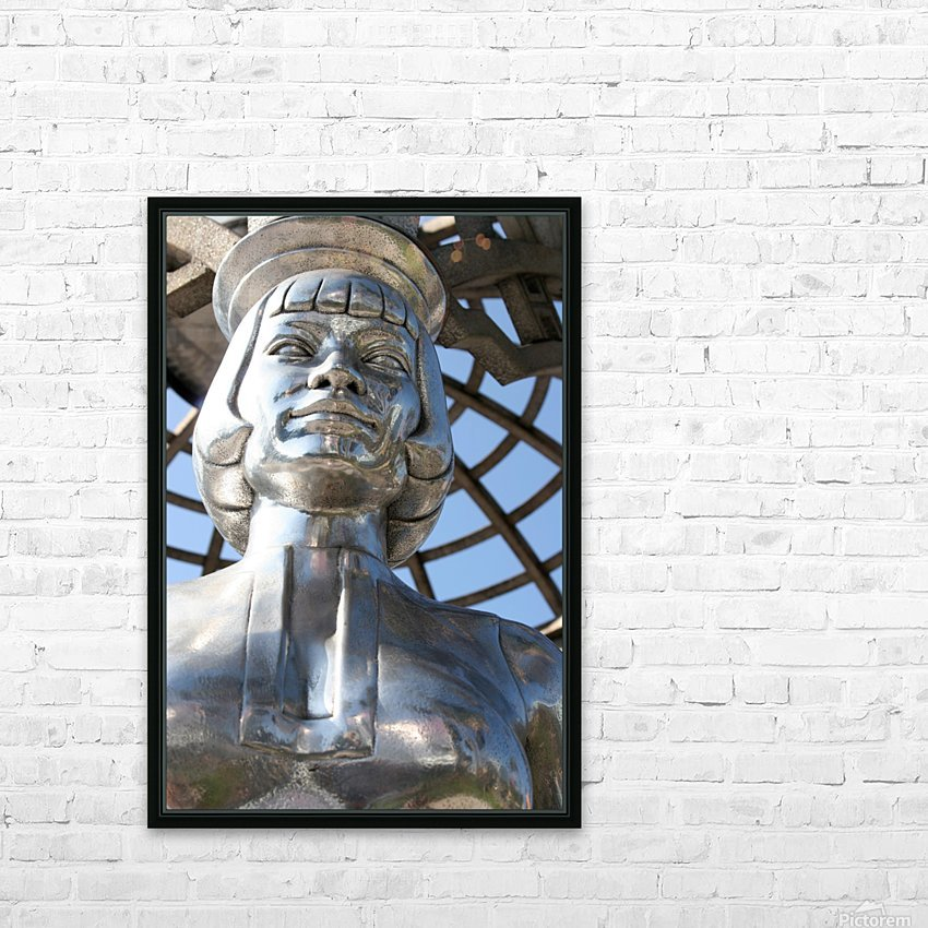 Silver Statue Face of Anna May Wong HD Sublimation Metal print with Decorating Float Frame (BOX)