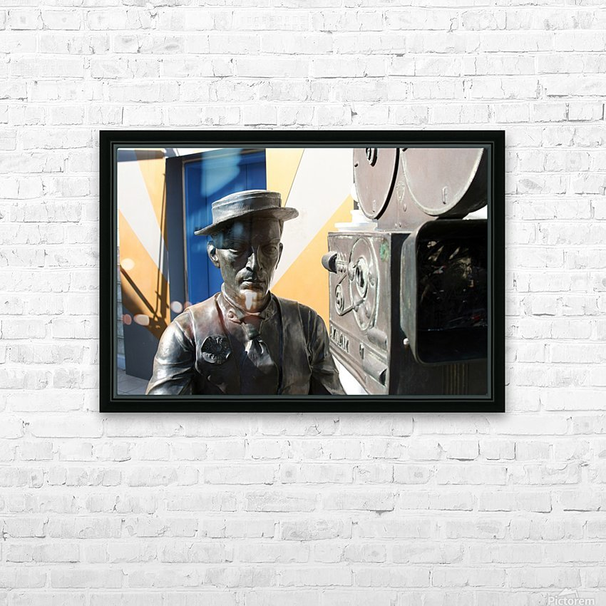 Buster Keaton Statue HD Sublimation Metal print with Decorating Float Frame (BOX)