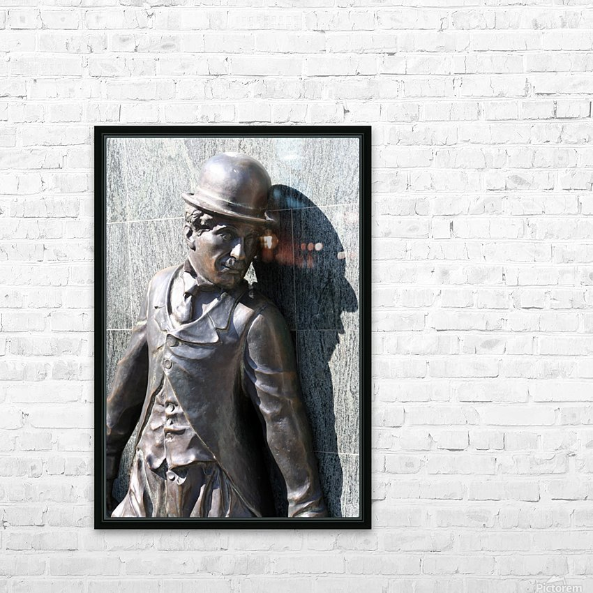 Mr. Charlie Chaplin HD Sublimation Metal print with Decorating Float Frame (BOX)