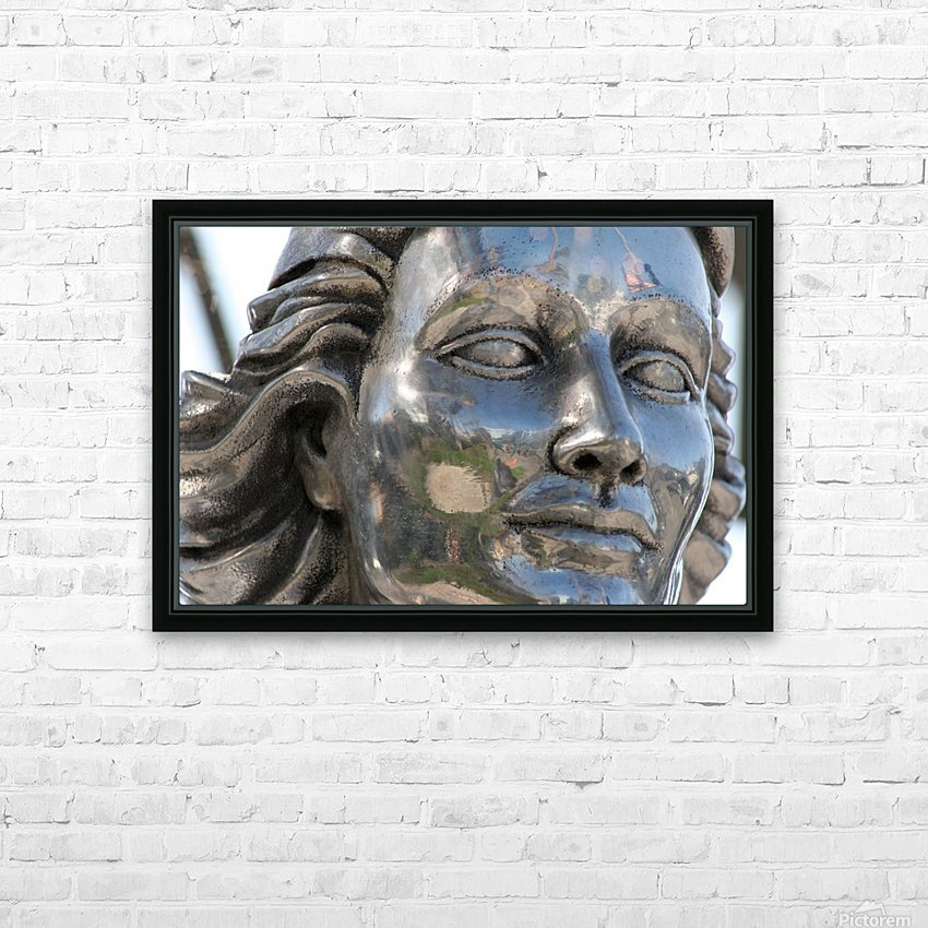 Face of Dolores Del Rio Silver Statue HD Sublimation Metal print with Decorating Float Frame (BOX)