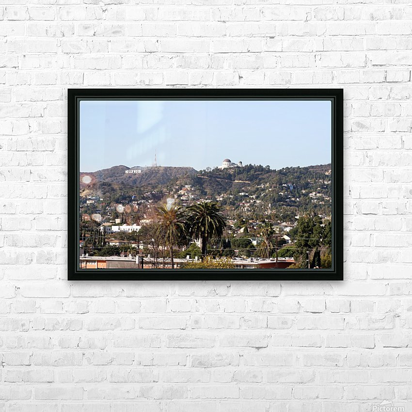 Hollywood Hills from Silver Lake HD Sublimation Metal print with Decorating Float Frame (BOX)
