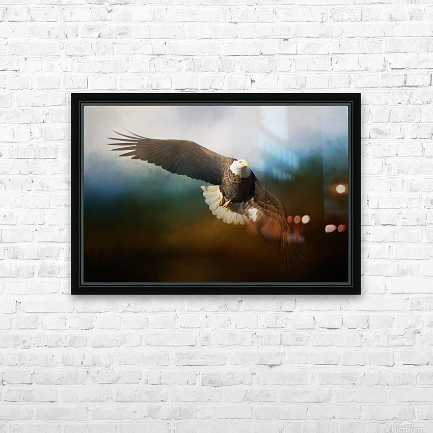 Raptor HD Sublimation Metal print with Decorating Float Frame (BOX)