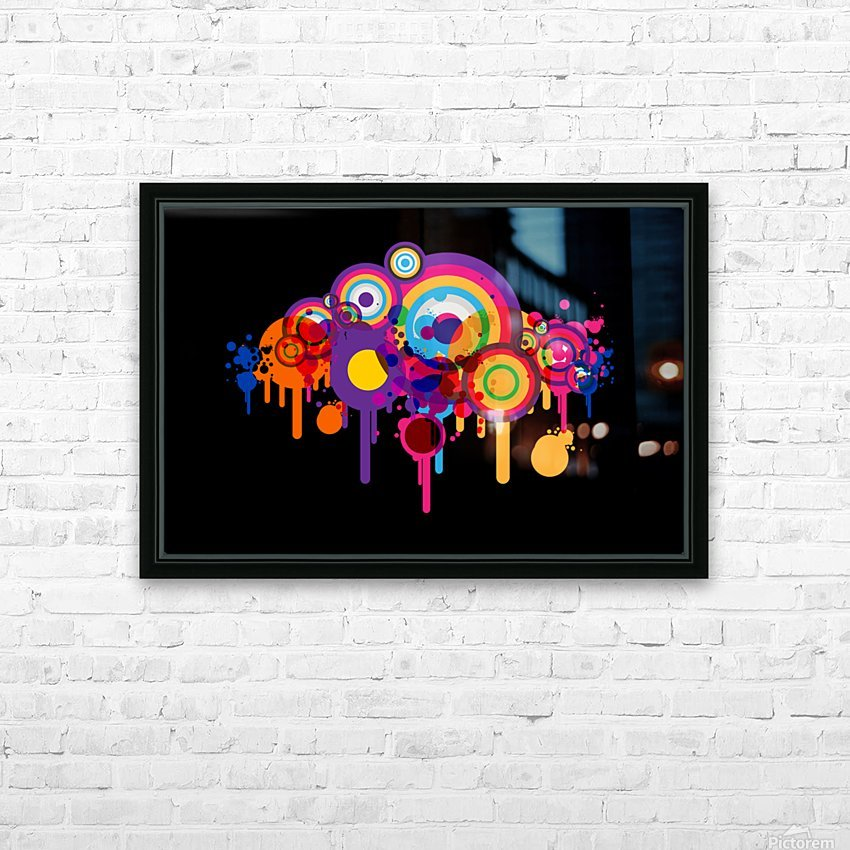 blob HD Sublimation Metal print with Decorating Float Frame (BOX)