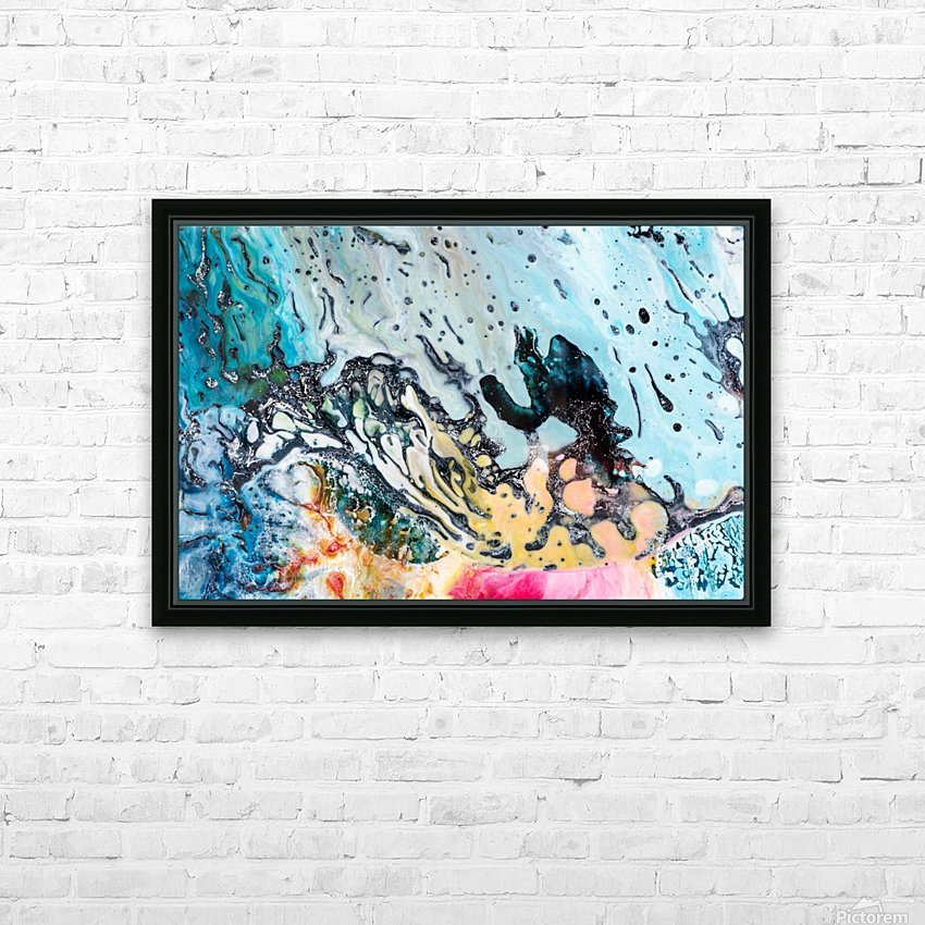 abstract1 HD Sublimation Metal print with Decorating Float Frame (BOX)