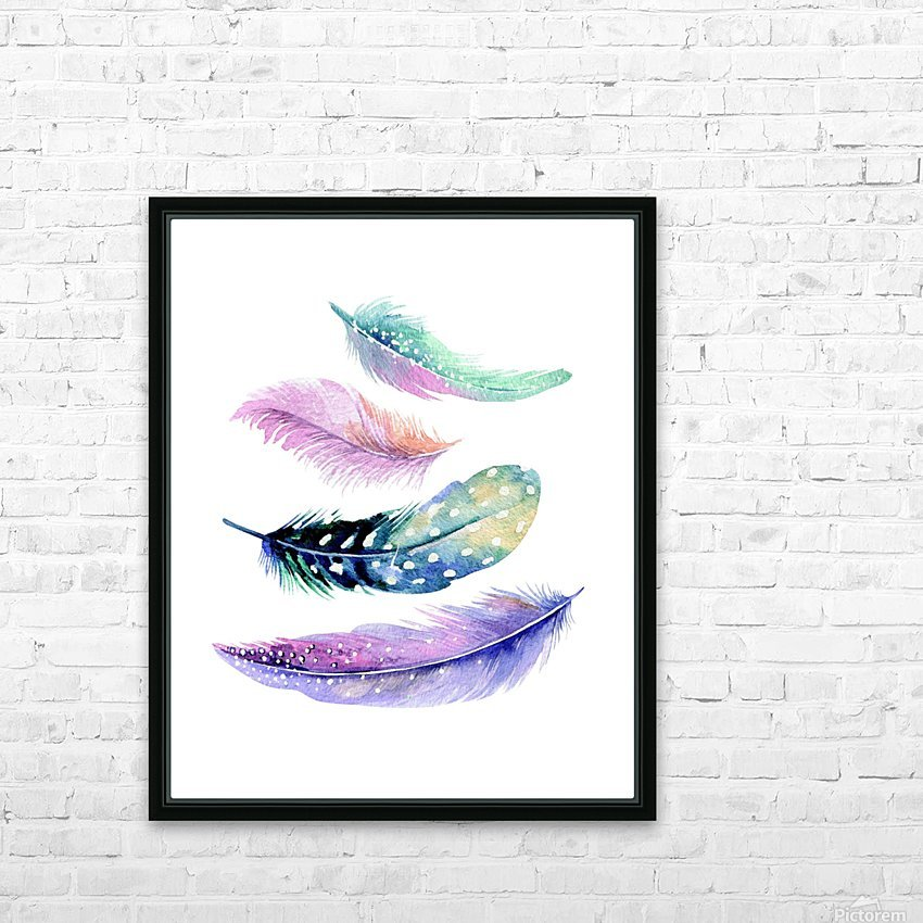 feather HD Sublimation Metal print with Decorating Float Frame (BOX)