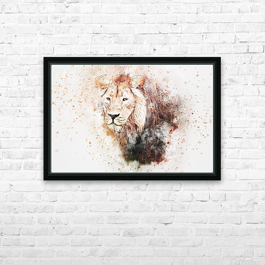 lionss HD Sublimation Metal print with Decorating Float Frame (BOX)