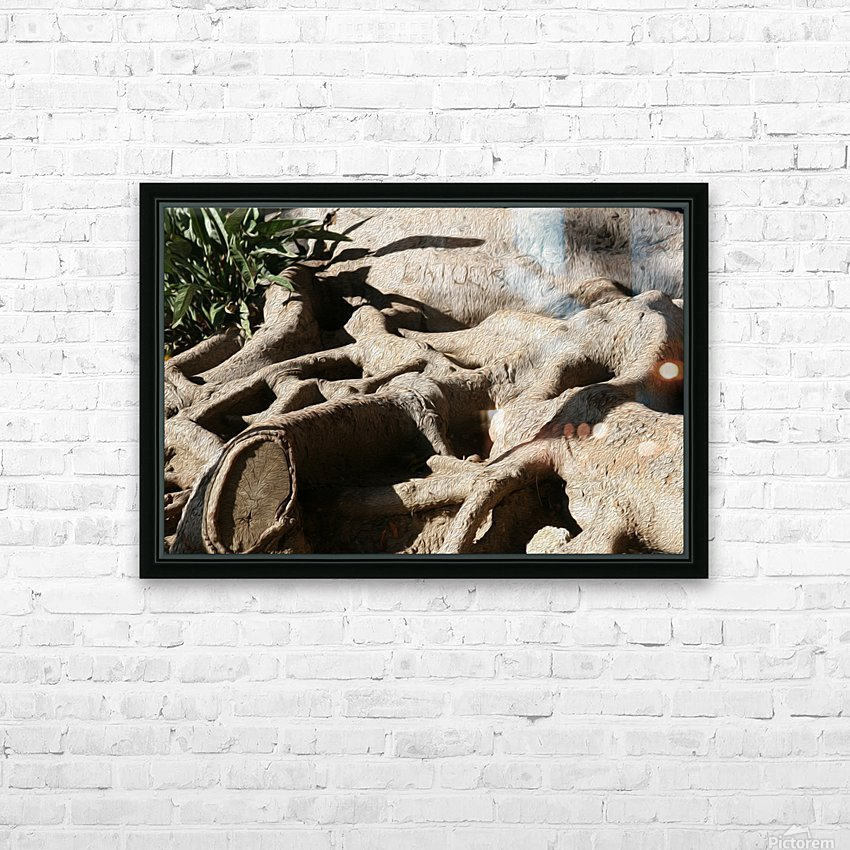 Signed Tree Roots HD Sublimation Metal print with Decorating Float Frame (BOX)