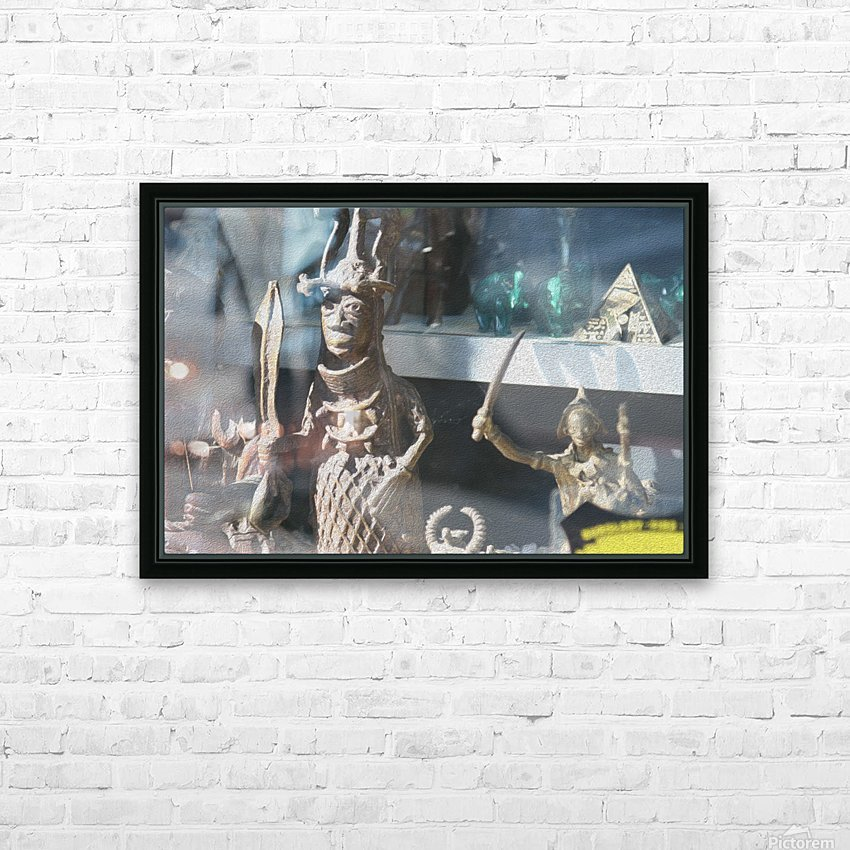 African Statue in Window HD Sublimation Metal print with Decorating Float Frame (BOX)