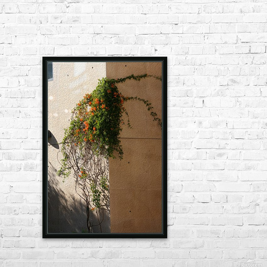 Wall Vines on Edge HD Sublimation Metal print with Decorating Float Frame (BOX)