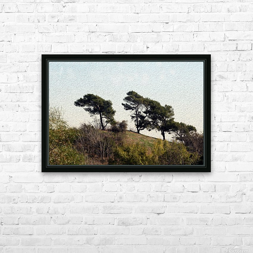 Natural Wind Blown Trees HD Sublimation Metal print with Decorating Float Frame (BOX)