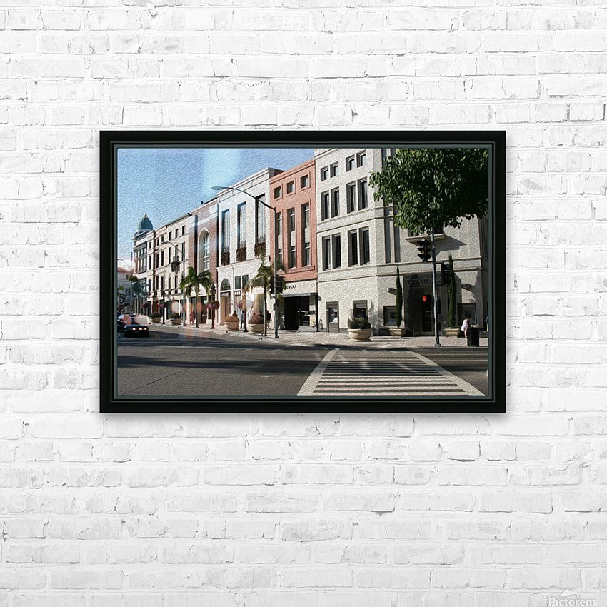 North Rodeo Drive HD Sublimation Metal print with Decorating Float Frame (BOX)