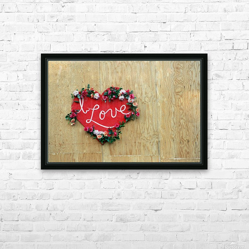 I Love Heart HD Sublimation Metal print with Decorating Float Frame (BOX)