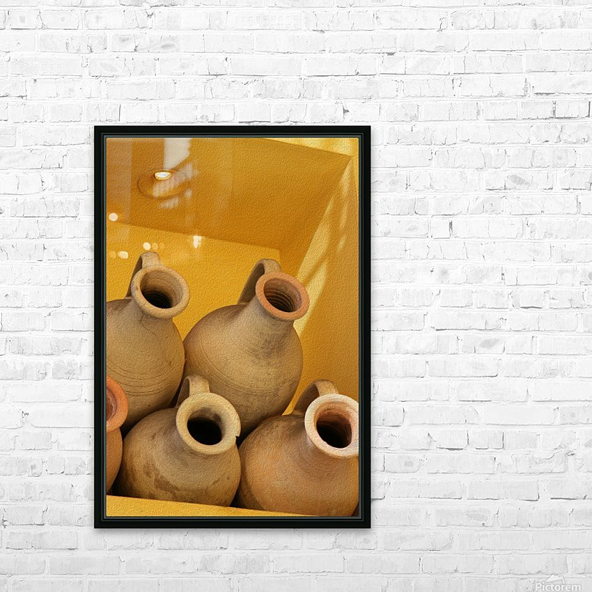 Four Stacked Jugs HD Sublimation Metal print with Decorating Float Frame (BOX)
