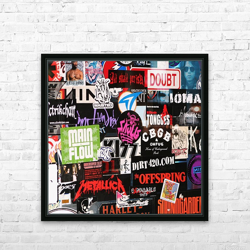 Rock & Roll Stickers HD Sublimation Metal print with Decorating Float Frame (BOX)