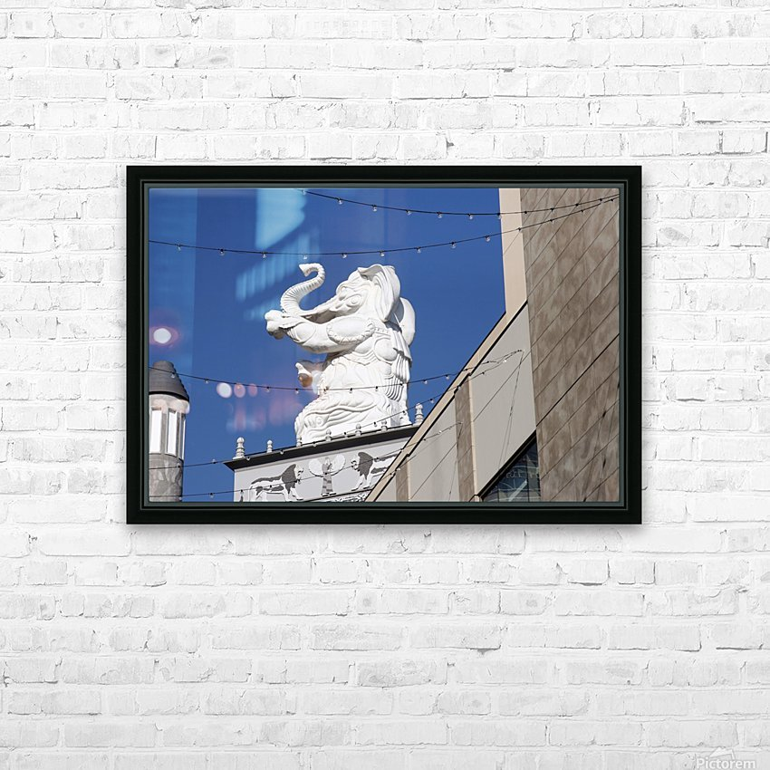 Hollywood Dancing Elephant HD Sublimation Metal print with Decorating Float Frame (BOX)