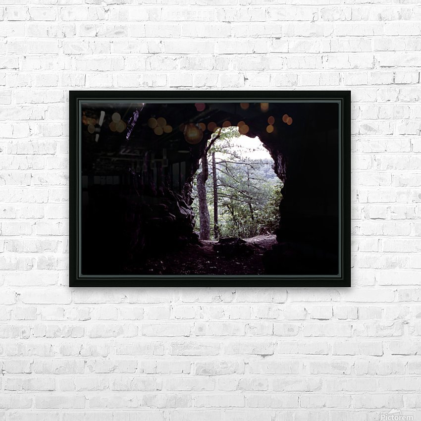 Forest Cave HD Sublimation Metal print with Decorating Float Frame (BOX)