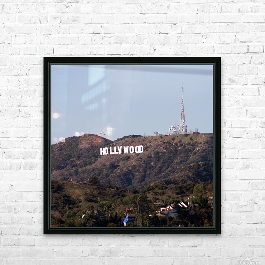 Hollywood and Helicopters HD Sublimation Metal print with Decorating Float Frame (BOX)
