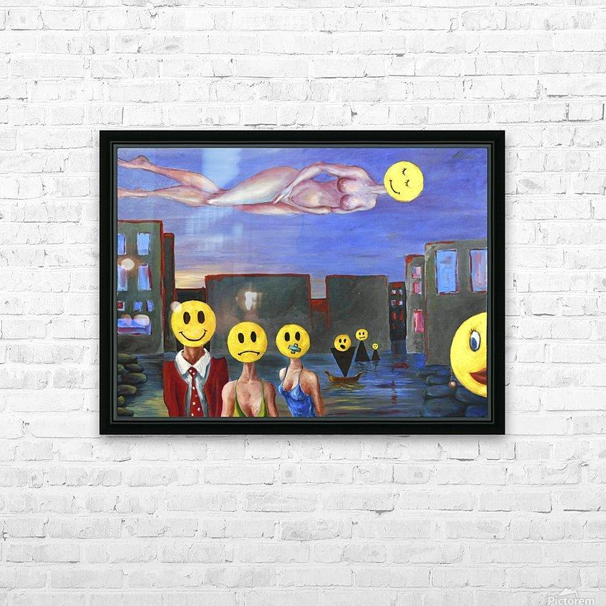 homo smilikus HD Sublimation Metal print with Decorating Float Frame (BOX)