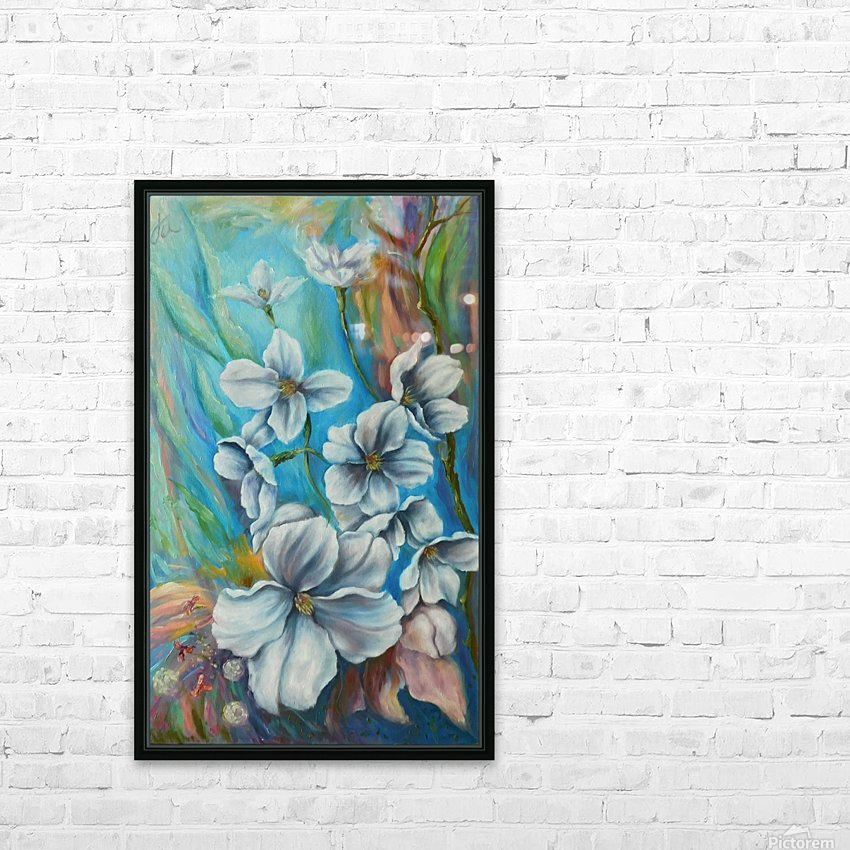 White color HD Sublimation Metal print with Decorating Float Frame (BOX)