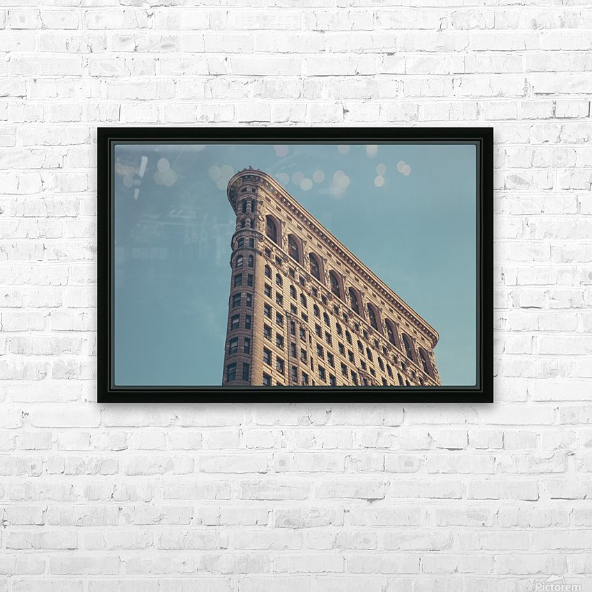New York Flatiron Building 2 HD Sublimation Metal print with Decorating Float Frame (BOX)