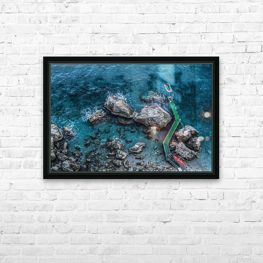 The Beach - Amalfi Coast - Italy HD Sublimation Metal print with Decorating Float Frame (BOX)