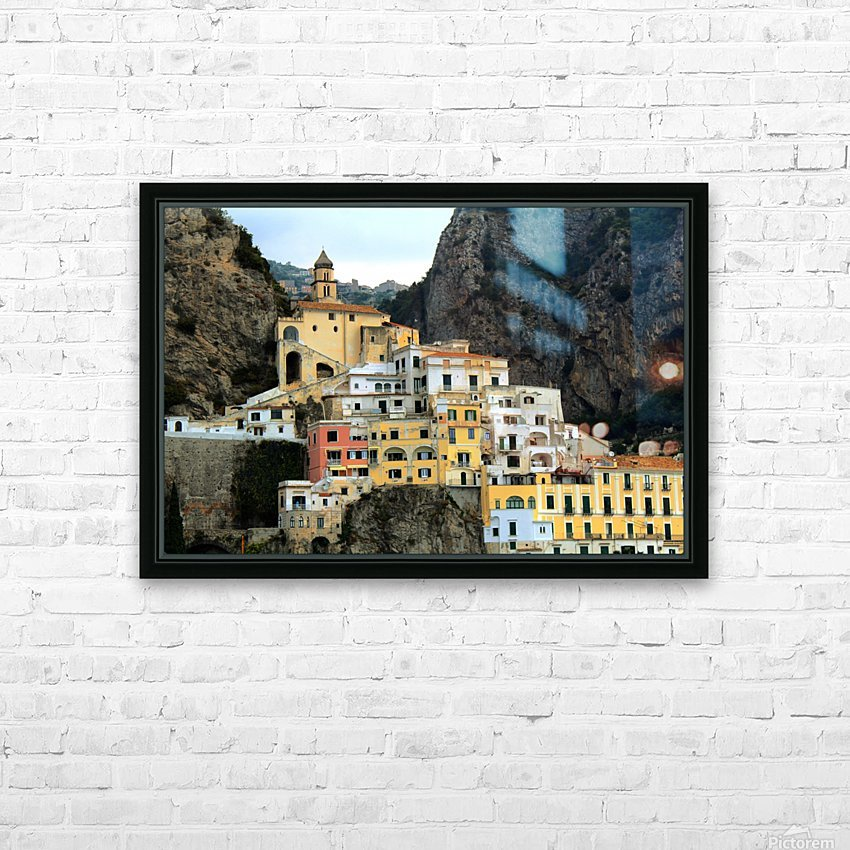 Amalfi  Old Town - Italy HD Sublimation Metal print with Decorating Float Frame (BOX)