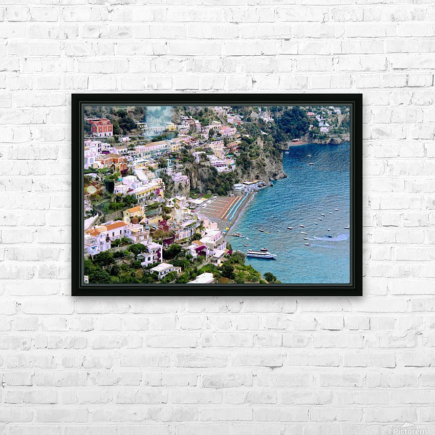 Aerial view of Positano Beach - Italy HD Sublimation Metal print with Decorating Float Frame (BOX)