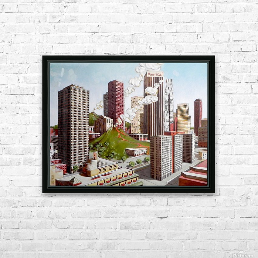 Volcano in Los Angeles HD Sublimation Metal print with Decorating Float Frame (BOX)