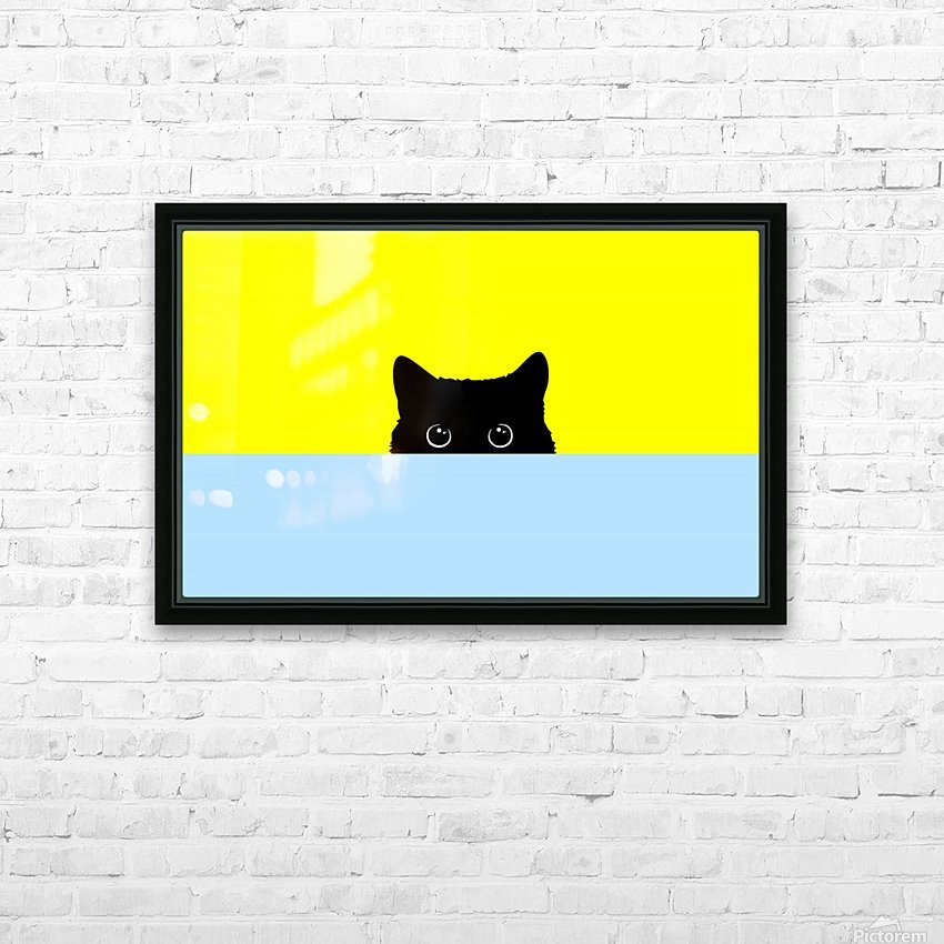 Kitty HD Sublimation Metal print with Decorating Float Frame (BOX)