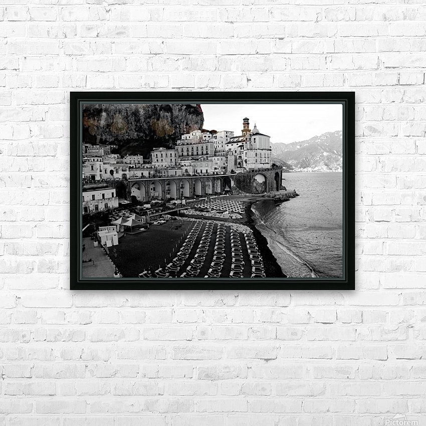 Atrani Village HD Sublimation Metal print with Decorating Float Frame (BOX)