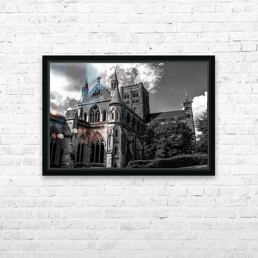 Cathedral   - Black and White image HD Sublimation Metal print with Decorating Float Frame (BOX)