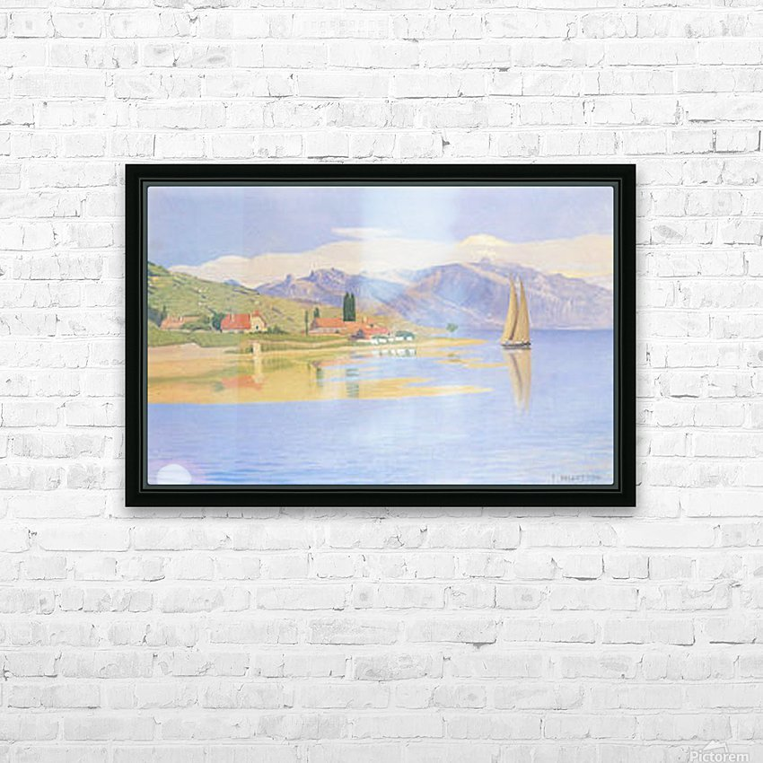 The port of Pully by Felix Vallotton HD Sublimation Metal print with Decorating Float Frame (BOX)