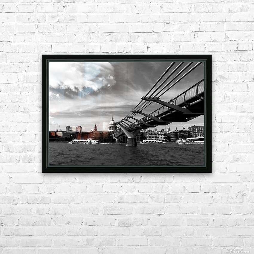 London Skyline -St Pauls Cathedral HD Sublimation Metal print with Decorating Float Frame (BOX)