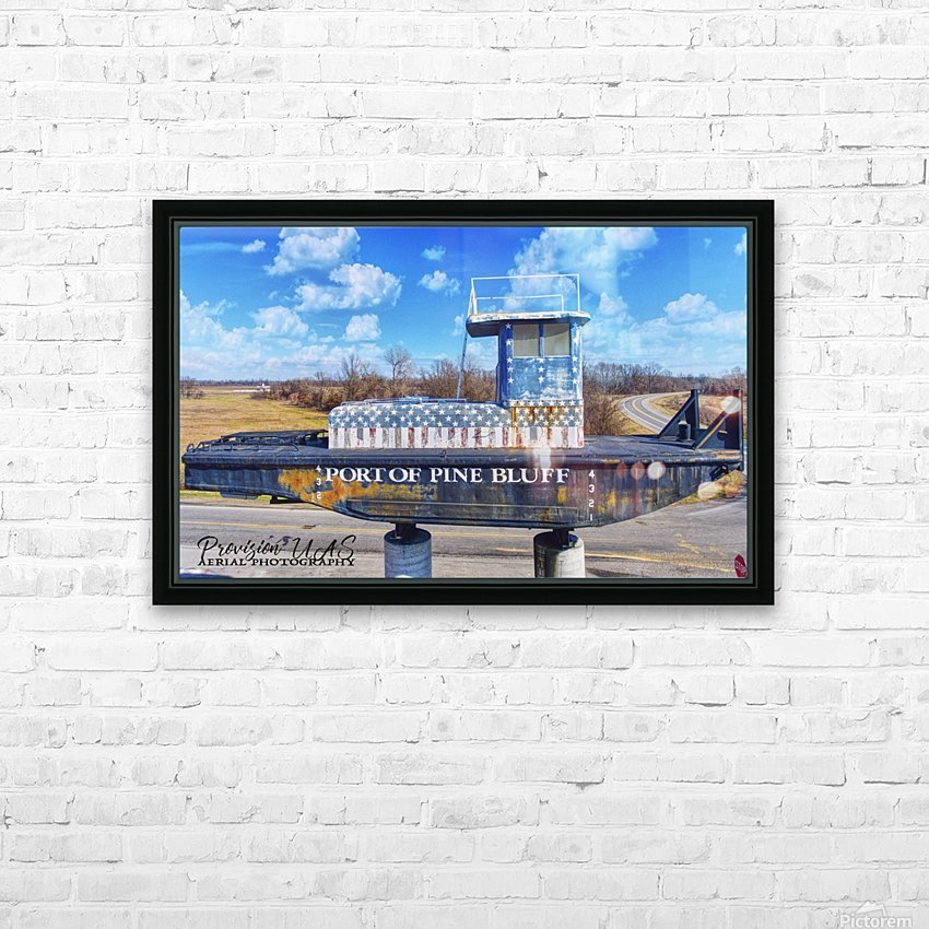 Pine Bluff, AR | Port Sign HD Sublimation Metal print with Decorating Float Frame (BOX)