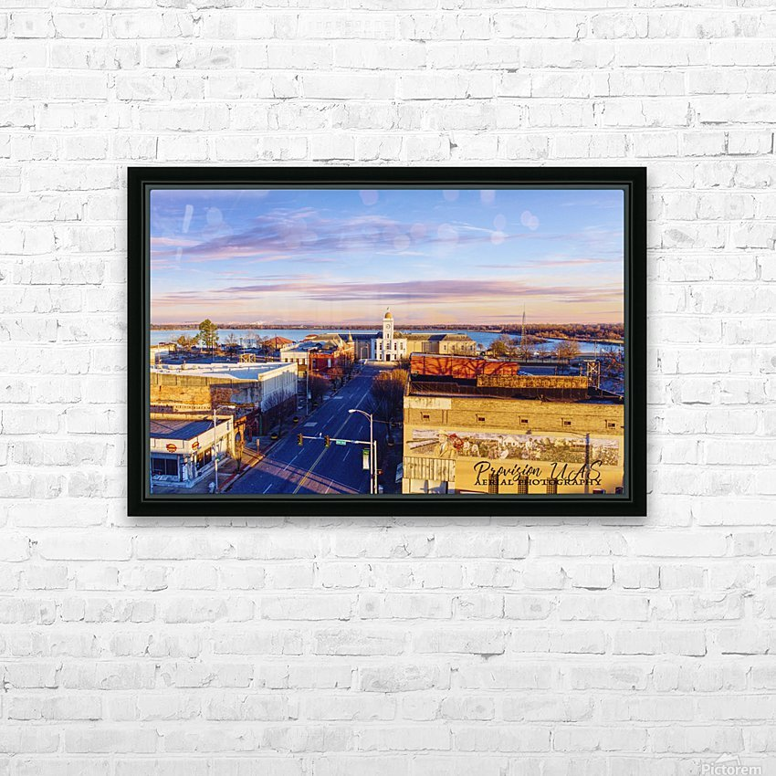 Pine Bluff  AR | Downtown HD Sublimation Metal print with Decorating Float Frame (BOX)