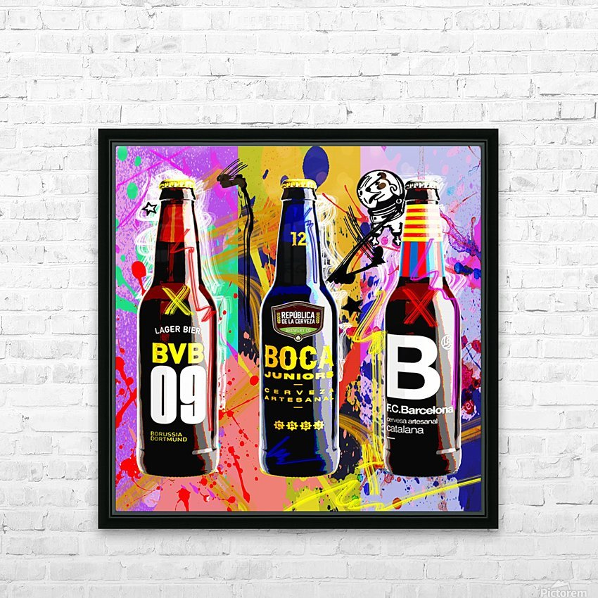 Beer X HD Sublimation Metal print with Decorating Float Frame (BOX)