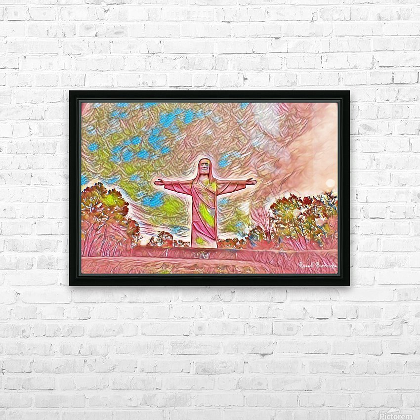 Christ of the ozarks HD Sublimation Metal print with Decorating Float Frame (BOX)